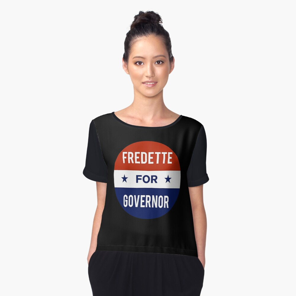 Ken Fredette For Governor of Maine Women's Chiffon Top Front