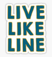 Live Like Line Volleyball Players Gift for the Team & Fans - Underdog Miracle Stories to Inspire! Play the Game Like a Girl Sticker