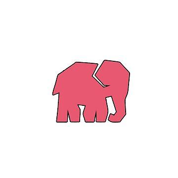 Elephant Minimalism by Seemushk