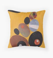 Pebbles On Yellow Throw Pillow