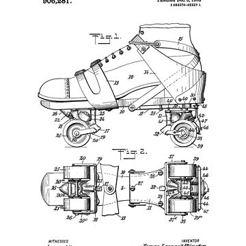 Roller Skate Patent Black by Vesaints
