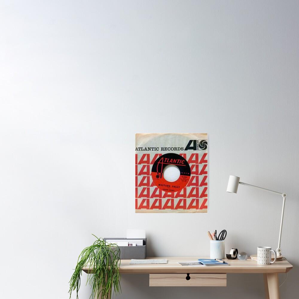 Wilson Pickett, Mustang Sally, Soul, Funk, 45  Poster