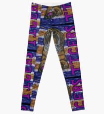 Tiger Purple and Gold Leggings