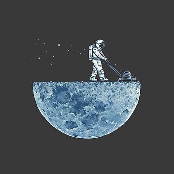 Man on Moon by Seemushk
