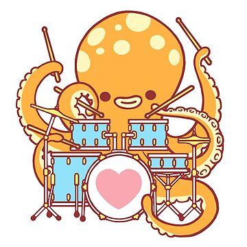 Octopus Drummer by SarahJoncas