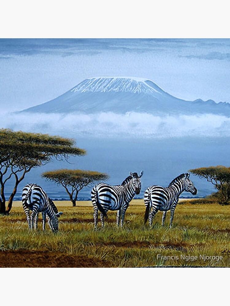 Beautiful art designs of Zebras at the foot of Mt. Kilimanjaro by Mutan