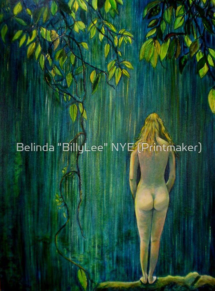 """Nude by Waterfall by Belinda """"BillyLee"""" NYE (Printmaker)"""
