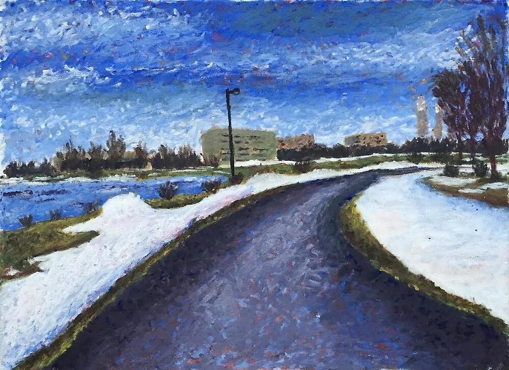 Oswego New York Painting by Claire Chiarelli