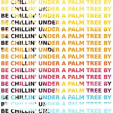 chilling under a palm tree by hellcom