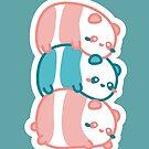 «Bean Panda - Montaña de pandas - Los adorables panda haba» de komorebistars