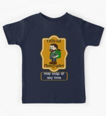 Fun Sarcastic Official Photographer Label Kids Tee