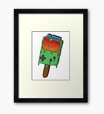 Gameboy Popsicle V.1 Framed Print