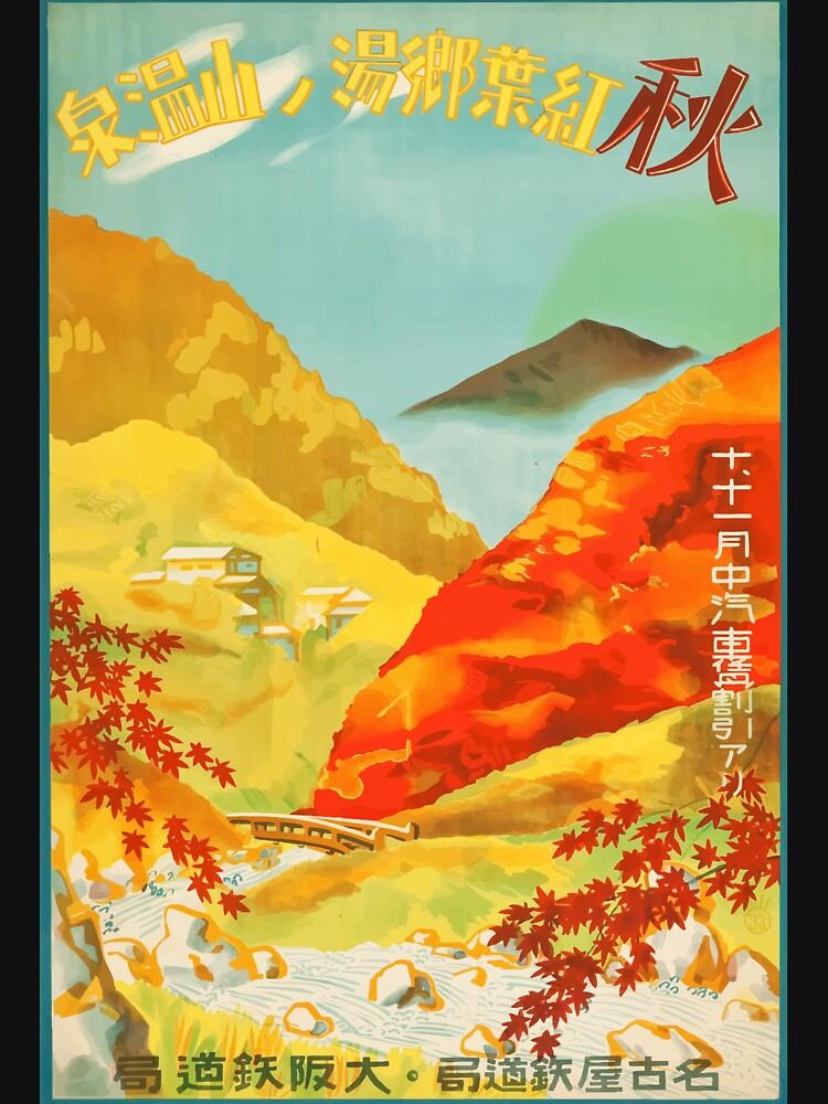 Visit Japan- vintage poster by welniak