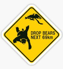 Drop Bear Sticker