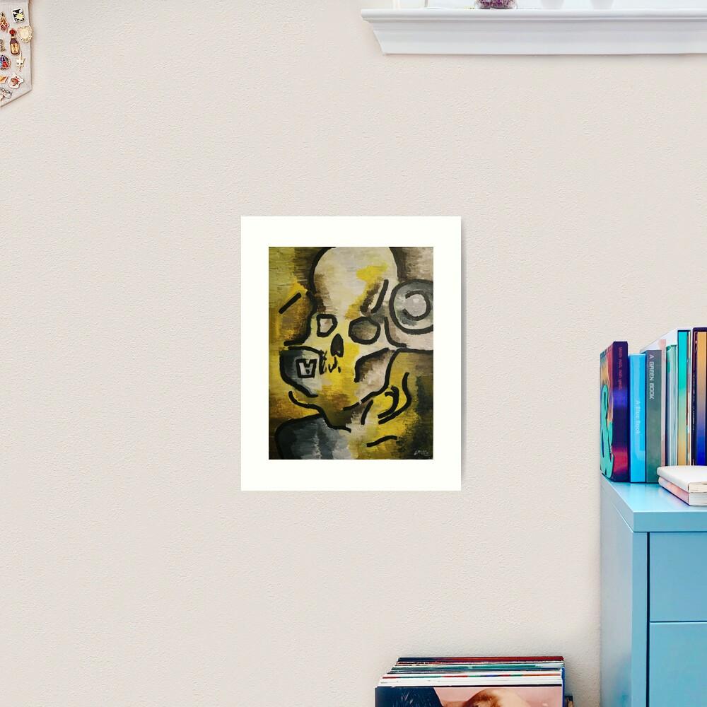 A-Skull Art Print