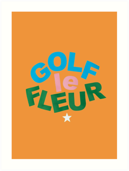 Golf Le Fleur Orange Art Prints By Rocketride Redbubble