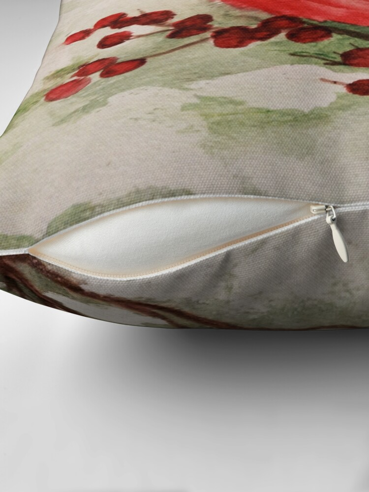 Alternate view of Cardinal  Throw Pillow