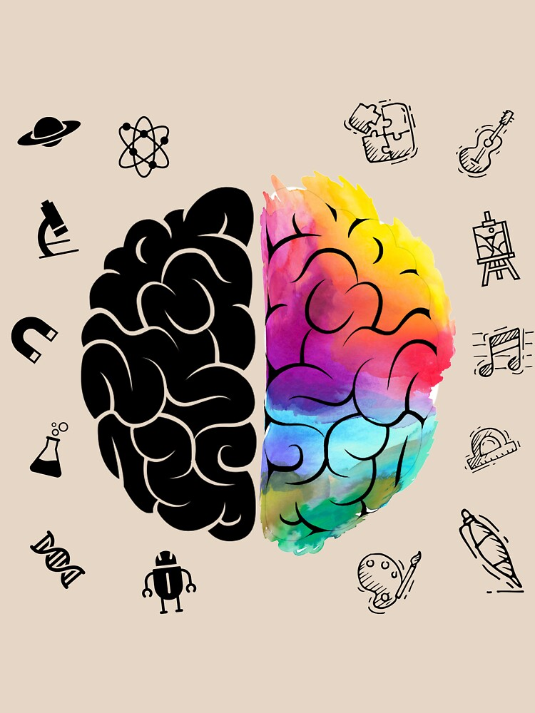 Quot Colorful Brain Science And Art Gift Right And Left