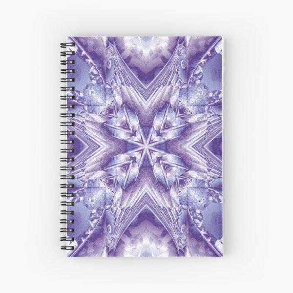 Abstracto lila y violeta Cuaderno de espiral