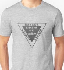 Ejector Seat Sign. Warning T-Shirt