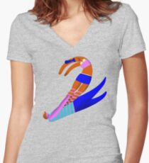 Tango Two Women's Fitted V-Neck T-Shirt