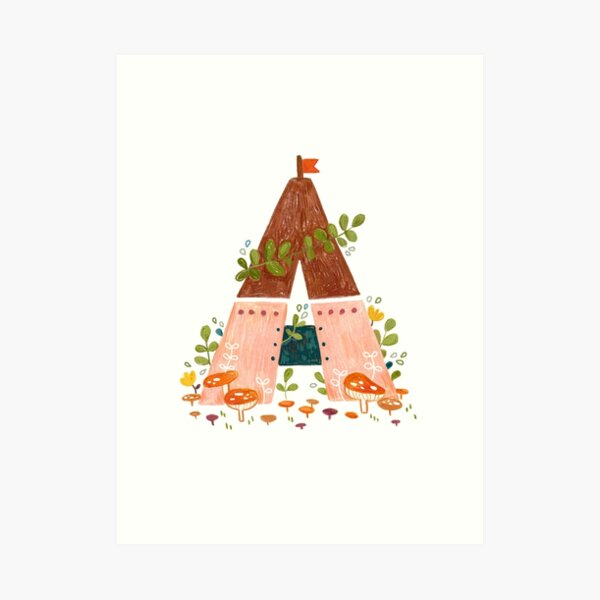 A is for Abode Art Print