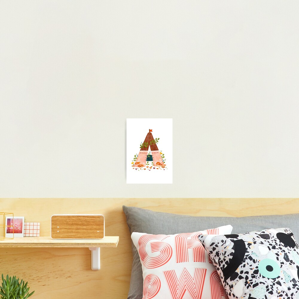 A is for Abode Photographic Print