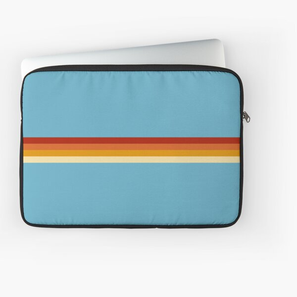 Vintage Style Retro Summer Stripes Losna Laptop Sleeve