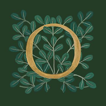 Forest Letter O 2018 by Donnahuntriss