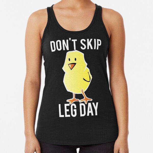 Today is Leg Day Turkey print women/'s racerback tank top