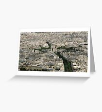View of L'Arc de Triomphe from the Eiffel Tower, Paris, France Greeting Card