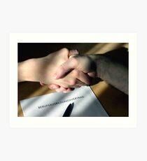 Handshake 4 Future Art Print
