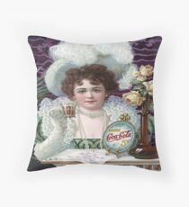 Vintage poster - Soda advertisement Throw Pillow