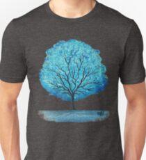 Blue Happy Tree Slim Fit T-Shirt