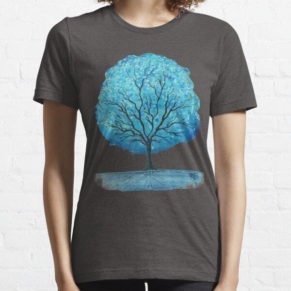 Blue Happy Tree Essential T-Shirt