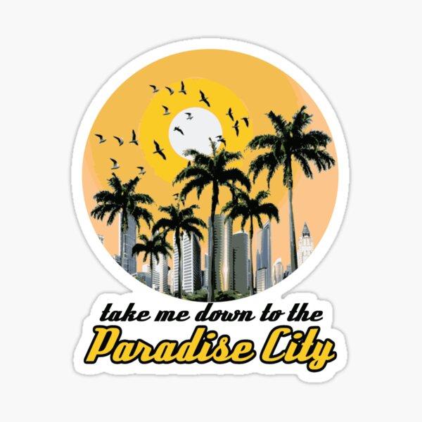 ciudad Paraiso Pegatina