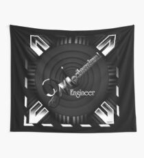 Mechanical Engineer Deco Flare Wall Tapestry