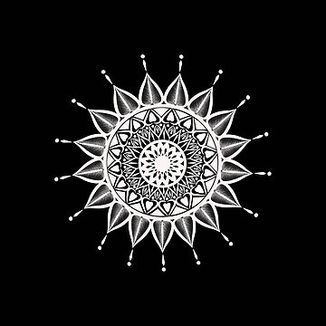 Mandala Black and white by leeloolook