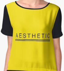 Yellow Aesthetic  Chiffon Top