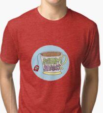 "Mom Jeans. ""death cup"" Tri-blend T-Shirt"