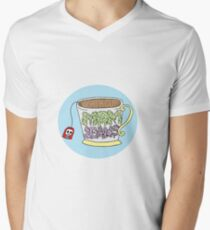 """Mom Jeans. """"death cup"""" V-Neck T-Shirt"""