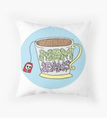 "Mom Jeans. ""death cup"" Throw Pillow"