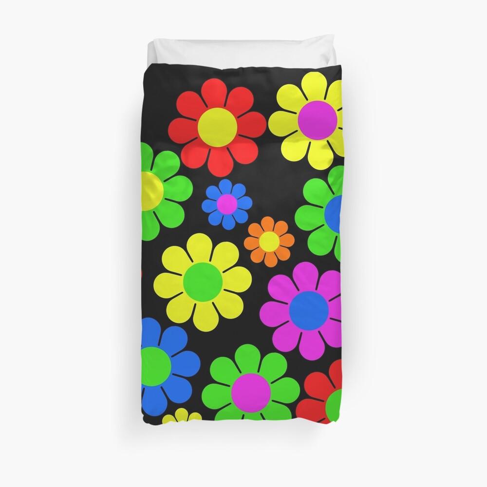 Hippy Flower Daisy Spring Pattern Duvet Cover
