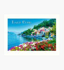 Weinlese-Art See-Como-Reise-Plakat Kunstdruck