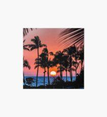 Oahu Sunset Art Board
