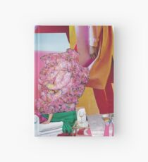 she lived on the throne - pink green and gold modern collage Hardcover Journal