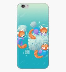 Red Space Pandas in Brighter Skies iPhone Case