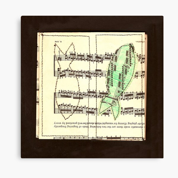 Fish czerny for example Canvas Print