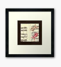 Fish contrary movement Framed Print