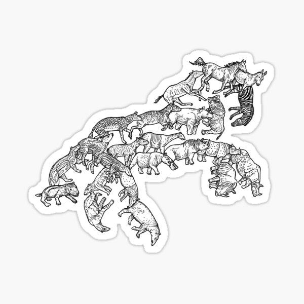 Perissodactyla -  Evolution Sticker